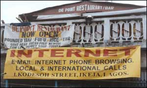 Internet cafe in Lagos