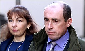 Gary and Elaine Hart outside Leeds Crown Court
