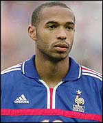 Thierry Henry playing for France