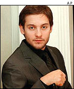 Tobey Maguire plays Spider-Man