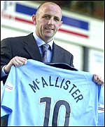 McAllister will play for the Sky Blues next season