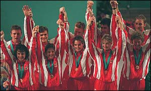 England win gold for the team event in 1994
