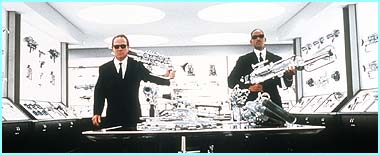 Just like the first film, Tommy Lee Jones and Will Smith load up with hi-tech gadgets