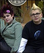 Kelly and Jack Osbourne