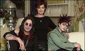 Ozzy Osbourne with wife Sharon and daughter Kelly