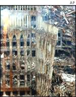 Wreckage from World Trade Center