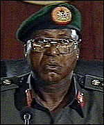 [ image: General Abubakar: Pledges handover to civilian rule in May]