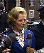 Entering Downing Street as Prime Minister, May 1979