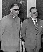 Augusto Pinochet and Salvador Allende in August 1973