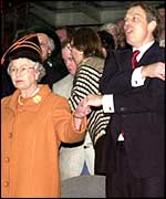 Queen and Tony Blair