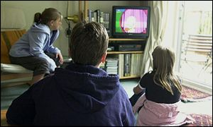 Children watch television
