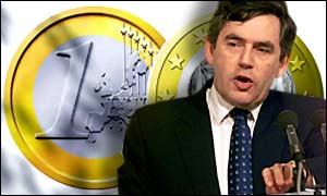 Gordon Brown now has to decide on whether the UK should join the euro