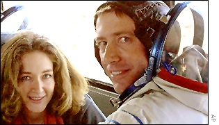 Italian astronaut Roberto Vittori and wife (AP)