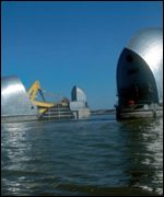 Thames and barrier   BBC
