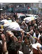 Funeral of al-Aqsa brigade leaders in Hebron