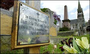 Damilola's final resting place in Plumstead south London