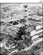 File photograph showing the devastation after the explosion