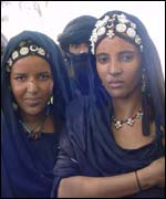 Malian women in traditional dress