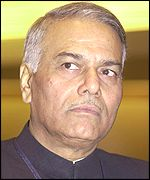 Indian Finance Minister Yashwant Sinha