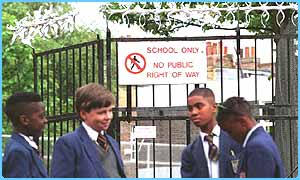 School security fence
