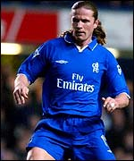 Chelsea's French international midfielder Emmanuel Petit