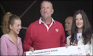 Charlotte Church, Ian Botham and Catherine Zeta Jones