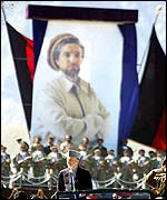 Ahmad Shah Massoud picture dominating the festivities