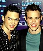 UK contestants Gareth Gates and Will Young