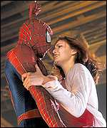 A scene from the movie Spider-Man