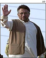President Musharraf at rally