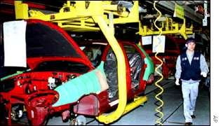 A Daewoo production line at Bupyong, one of two Korean plants not included in the deal