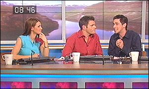 Mark Durden-Smith (centre) with Kirsty Gallacher and Colin Murray