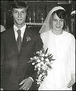 Brian and Diane Pretty on their wedding day