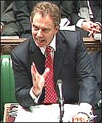 Prime Minister Tony Blair at Question Time