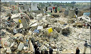 jenin in rubble