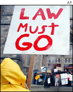 Anti-Law protester