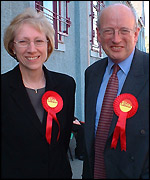 Sylvia Connolly and Nick Raynsford MP