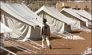 UN tents in Jenin