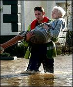 Floods in the UK, PA