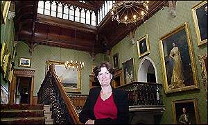 Fiona Reynolds, Director-General of the National Trust, inside Tyntesfield