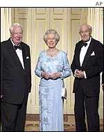 The Queen with two of her five living prime ministers