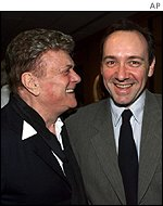 Tony Curtis with Kevin Spacey