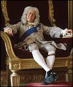 George II as played by an actor in The Aristocrats