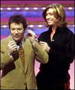 Jim Davidson consults Nicky Clarke