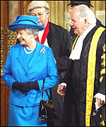 The Queen with Commons Speaker Michael Martin