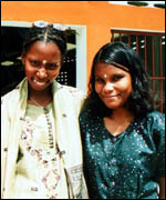 An African and Indian girl