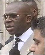 Hilary Muhammed, spokesman for UK Nation of Islam, outside court