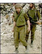 Israeli soldiers in Jenin