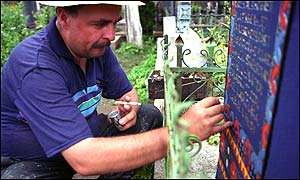 Gravestone painter
