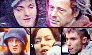 montage of suspects